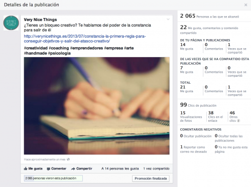 Alcance publicaciones paginas facebook