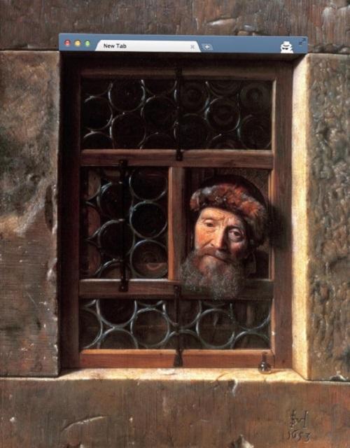 Ventana de incógnito de la artista ucraniana Nastya