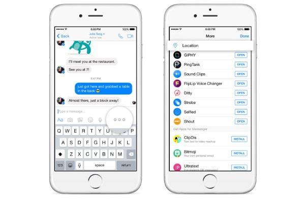 Facebook Messenger ha habilitado la función de compartir ubicación en su aplicación.
