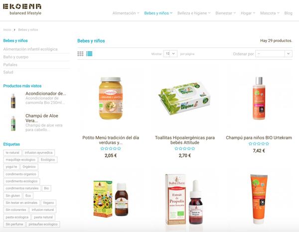 tienda online productos bio